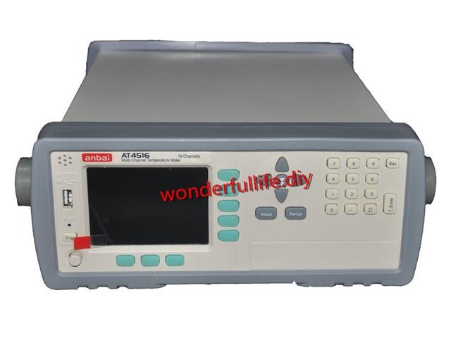 AT4516 Thermocouple Data Logger 16 channels 0.2% -200C-1300C precision industrial digital Multi-channel Temperature Meter