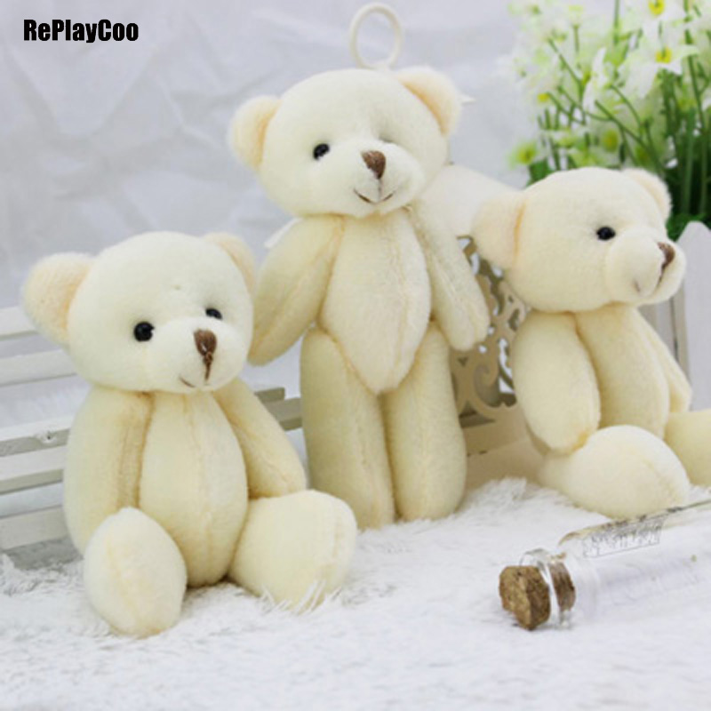 50pcs/lot Kawaii Small Joint Teddy Bears Stuffed Plush 12CM Toy Teddy Bear Mini Bear Ted Bears Plush Toys Wedding Gifts 013-in Stuffed & Plush Animals from Toys & Hobbies    1