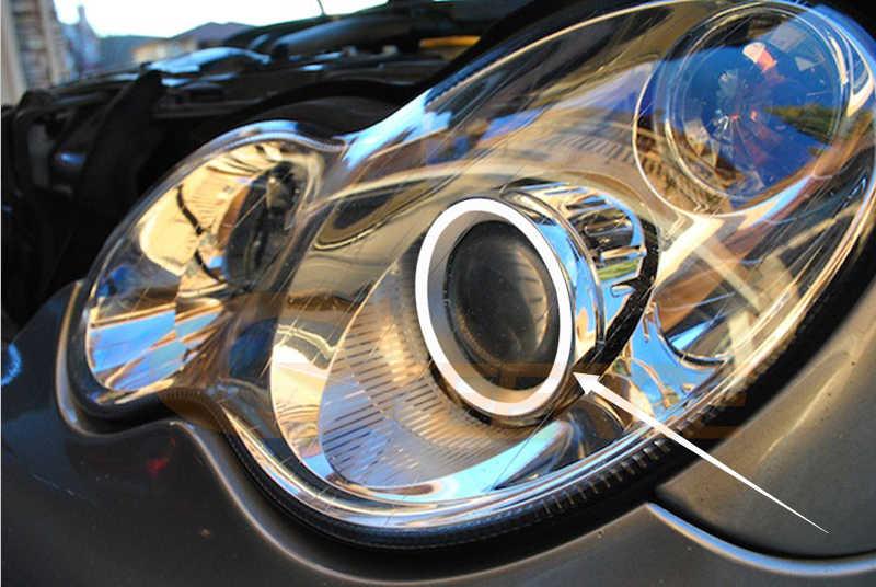 For Mercedes Benz C CLASS W203 C230 C240 C320 2001-2007 Xenon headlight RF  Bluetooth Controller Multi-Color RGB led angel eyes