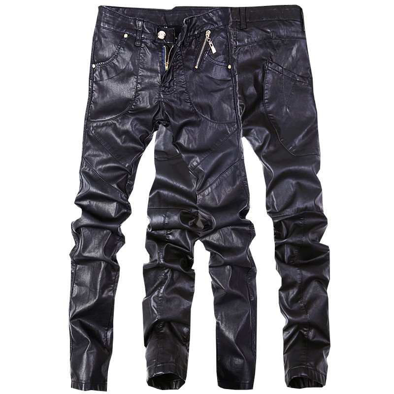 df539e5f4d959 Fashion men jeans pants skinny leather motorcycle straight trousers size 28  38 A102-in Jeans from Men s Clothing on Aliexpress.com