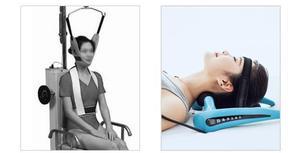 Image 3 - Aparato de tracción cervical, corrector inflable para el cuello y cuello del hogar, camilla para el dolor de cuello