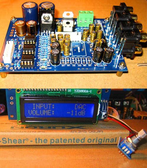 F10 M62446 6 channel remote+LCD display control digital kit