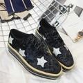 Slipony Women Elyse Star Flats Shoes Platform Brand Designer Rhinestone Flats Loafers Espadrilles Studded Horsebit loafer