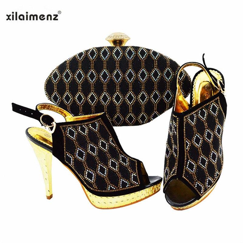 299fcc58b8 Afrikanische Farbe Schwarz Set royal purple Sandalen lime Taschen yellow  Sommer Hochzeit Black red Party fuchsia Prom Italienischen Schuhe Passenden  ...