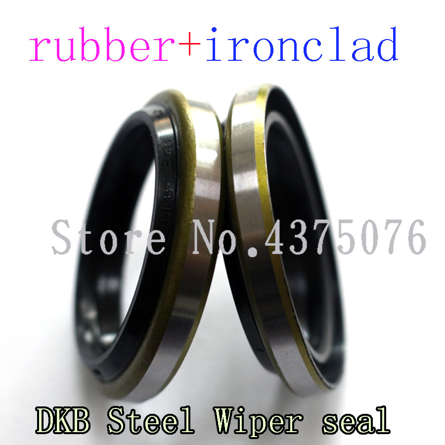 22*34/25*37/30*42/*6/9 35*47/40*52/45*57/50*62*7/10 DKB NBR Rubber Hydraulic  Iron Shell Dust Proof Wiper Ring Gasket Oil Seal
