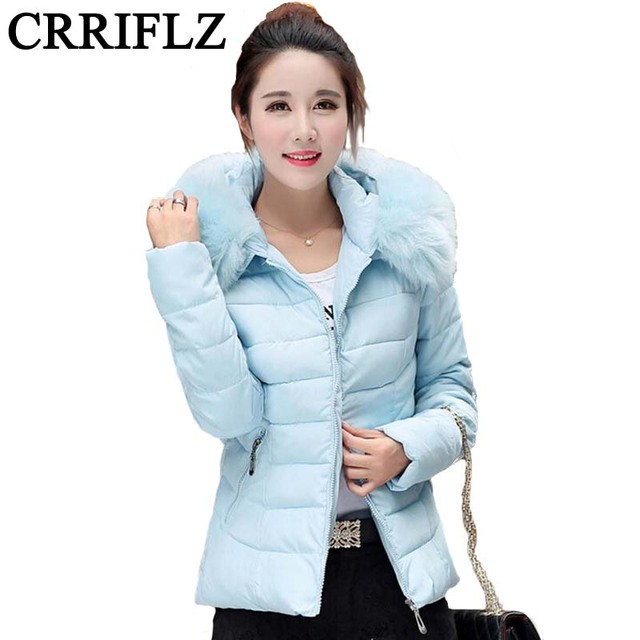 Women's Winter Jacket Cotton Down Parkas With Luxury Large Fur Collar Hood Thick Outwear 11 Colors 2016 New Winter L - 4XL IF18