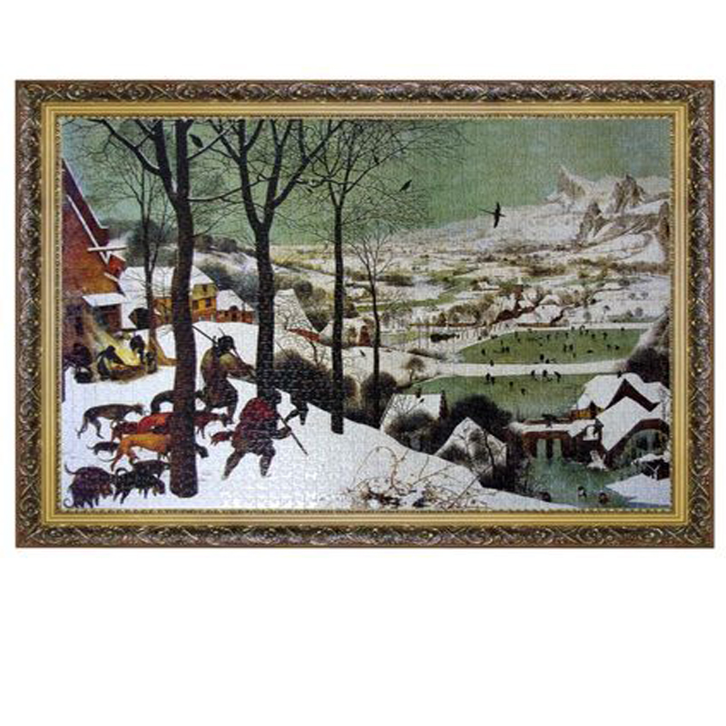 Grown up Wooden Paper Hunter in the snow Landscape Puzzle 2000 Pieces Adult World Oil Painting