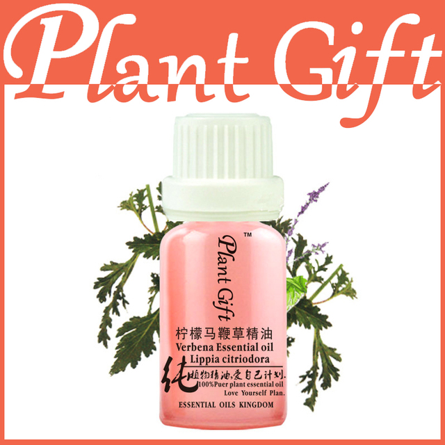 100% Pure Plant Essential Oils Lemon Verbena Oil 10ml Antibacterial Facilitate Digestion Soft Skin Insecticidal