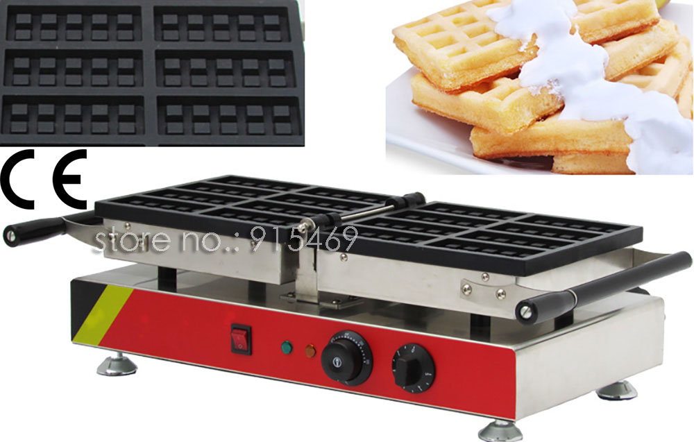 Free Shipping Commercial Use Non-stick 110v 220v Electric 8pcs Square Belgian Belgium Waffle Maker Iron Machine Baker free shipping electric 110v 220v 10 pcs waffle maker square waffle machine