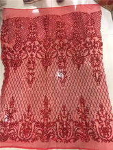 glitter lace red sequins french net lace fabric high quality for wedding  2017 latest design 5yard fffef19ed35f