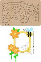 New Bee, photo frame Wooden die Scrapbooking C 392 19 Cutting Dies