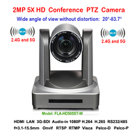 2MP Wide Angle 83 Degree 5X Zoom 1080P 60fps PTZ Video Conferencing WIFI Camera Wireless With