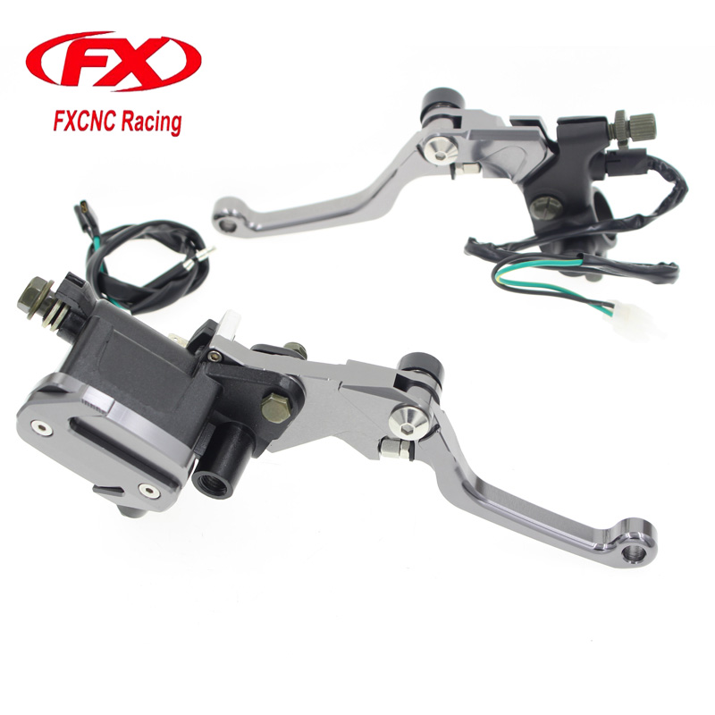 Motorcycle Hydraulic Master Cylinder Brake Cable Clutch Levers For HONDA CRM250R CRM250AR XR400MOTARD CRF250L CRF250M 50-500CC motorcycle semi met brake pads set for honda xr250 xr 250 s r 1996