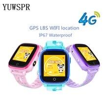 ساعة ذكية متتبع تحديد المواقع للأطفال ساعات 4G IP67 مقاوم للماء لتحديد المواقع LBS واي فاي لتحديد المواقع مكالمة فيديو كاميرا الأطفال ساعة بـ GPS الذكية DF33