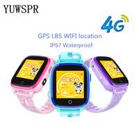 Relógio inteligente crianças gps tracker relógios 4g ip67 à prova dlbs água gps lbs wifi posicionamento câmera de chamada vídeo inteligente relógio gps df33