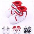Nuevos zapatos inferiores suaves del bebé/de niño antideslizante bebé/I love mama/amo papá bebé zapatos/envío gratis