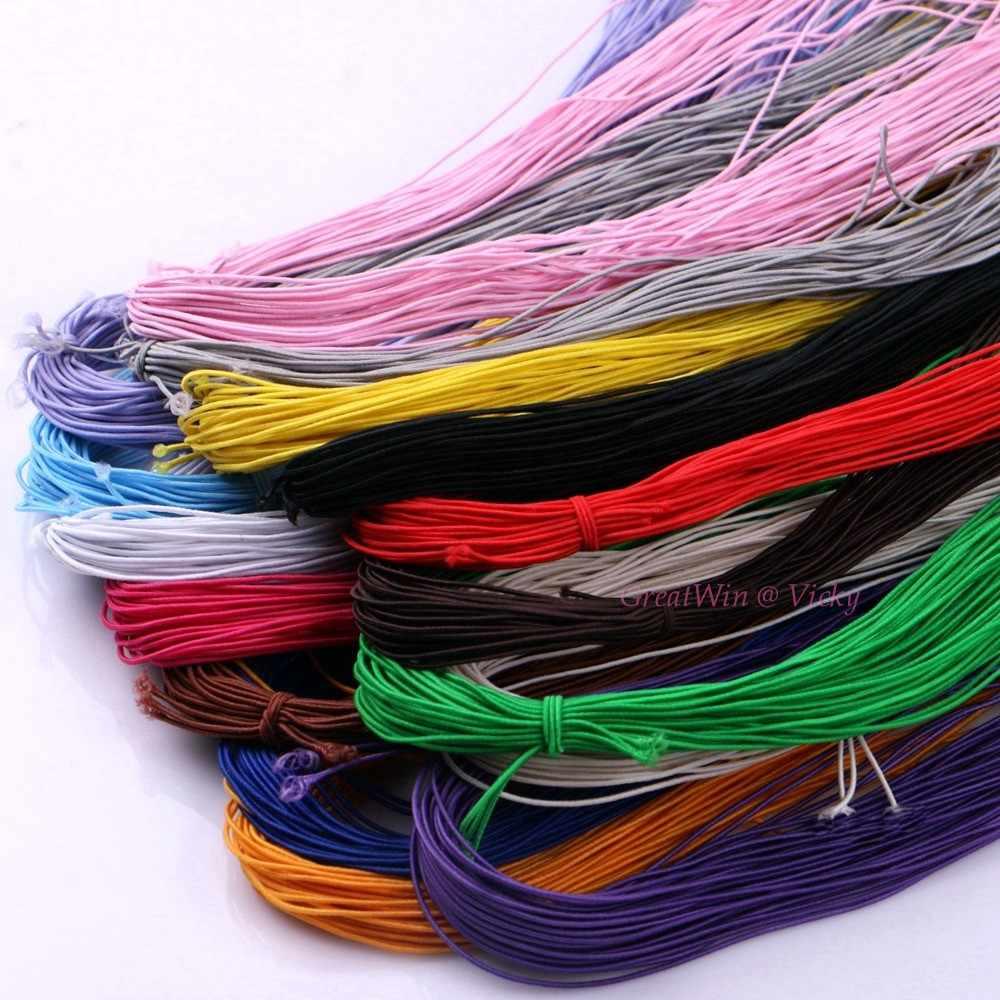 1 ミリメートル直径弾性ストレッチコードゴムロープナイロンブレスレットビーズ弦髪ストリップアクセサリー DIY 25 メートル
