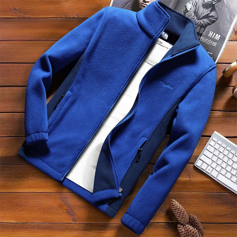 Image 4 - Fashion Mens Spring Jacket 2020 Autumn Stand Collar Homme Casual Jacket Men Thermal Fleece Male Coat Plus Size 6XL 7XL 8XL 9XLJackets   -