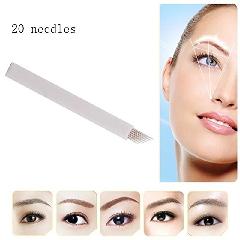 Alert 100pcs Microblading Eyebrow Blades Shading Needles Tattoo Curved Manual 18u Pin Health & Beauty
