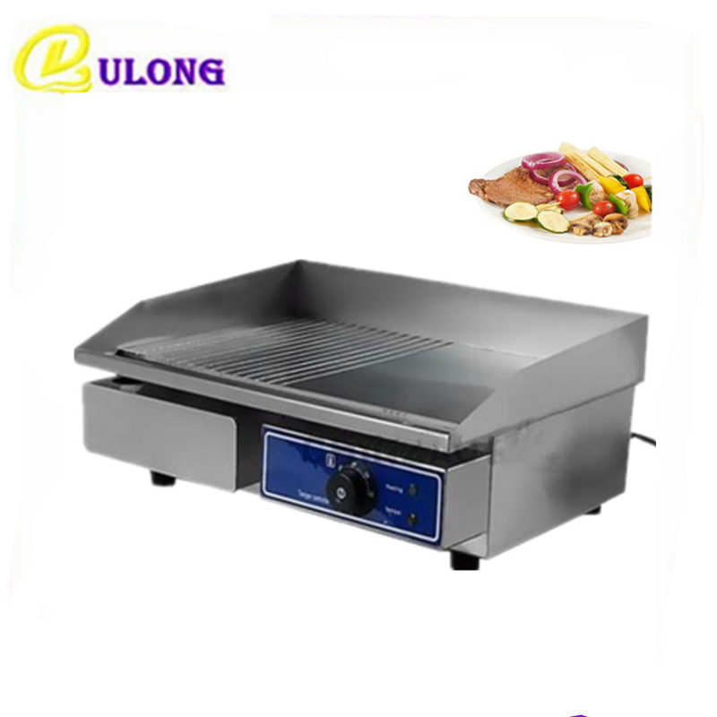 купить Household commercial electric grill restaurant equipment griddle chop hot plate BBQ countertop grillplatte по цене 6364.57 рублей