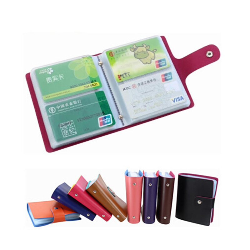 120 Cards Organizer Busines Name ID Credit Card Holders Book Case Keeper Leather