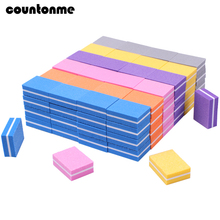 20pcs Mini Nail File Buffer Sponge Square Nail File Block Buffing Sanding 100/180 Salon Nail Art Tools Multi color Lime a ongle