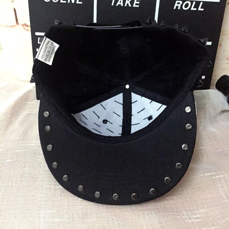 Aliexpress.com   Buy Unisex Punk Hedgehog Hat Personality Jazz Snapback  Spike Studded Rivet Spiky Baseball Cap For Hip Hop Rock Dance from Reliable  baseball ... aea6b6ac705f