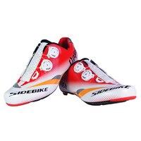 Miễn phí Vận Chuyển SIDEBIK Người Đàn Ông Thở Athletic Shoes Cycling Road Xe Đạp Giày Xe Đạp Giày Road Racing MTB Giày EU40-45 US7.5-12
