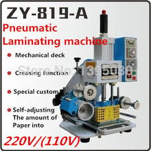 ZY-819-A Pneumatic Automatic Stamping Machine Leather LOGO Creasing Machine,High Speed Name Card Embossing Machine
