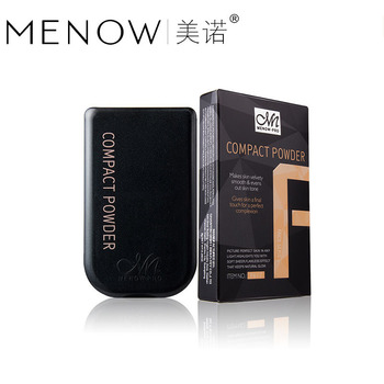 200 unids/lote Menow nuevo 15 Color de alta calidad polvo suelto cosméticos polvo de maquillaje facial y espejo negro caja de regalo cosméticos al por mayor