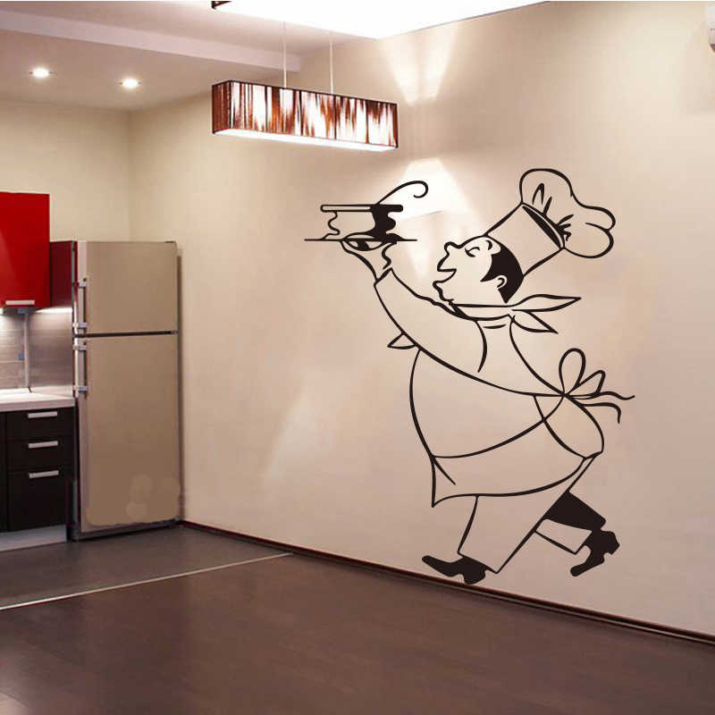 Stickers Cuisine Chef Cuistot Vinyl Wall Decals Sticker Mural Wall
