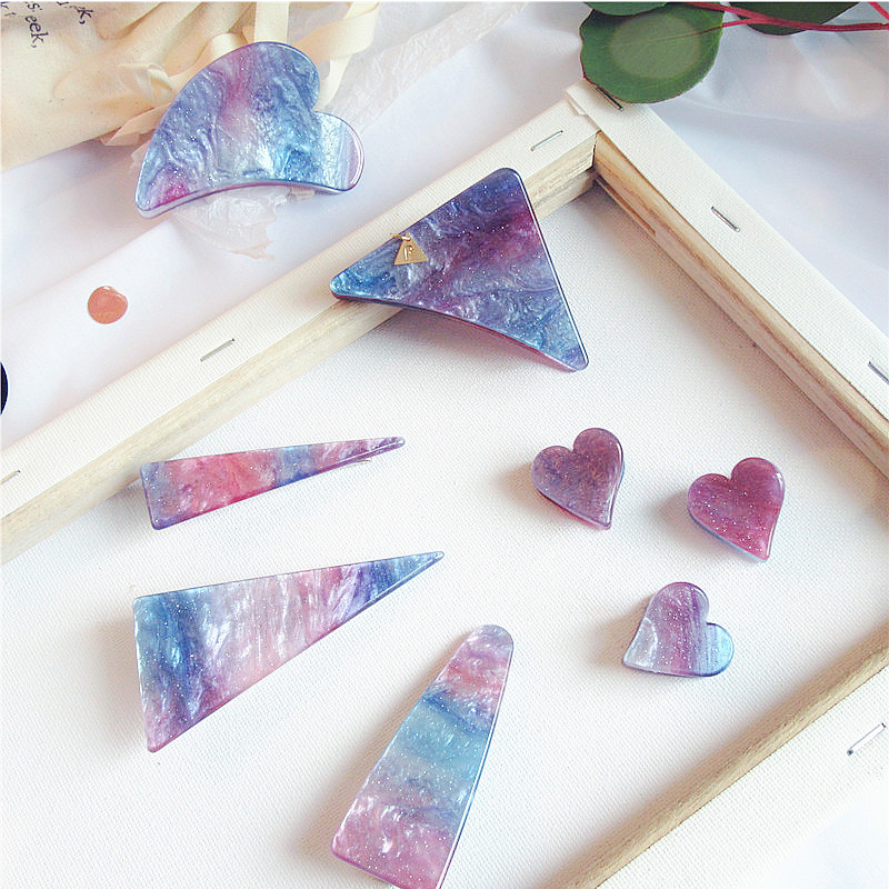 2019 New Women Girls Cute Acetate Starry Colorful Geometric Hair Clips Hairpins Hair Claws Barrettes Headbands Hair Accessories-in Women's Hair Accessories from Apparel Accessories on Aliexpress.com | Alibaba Group