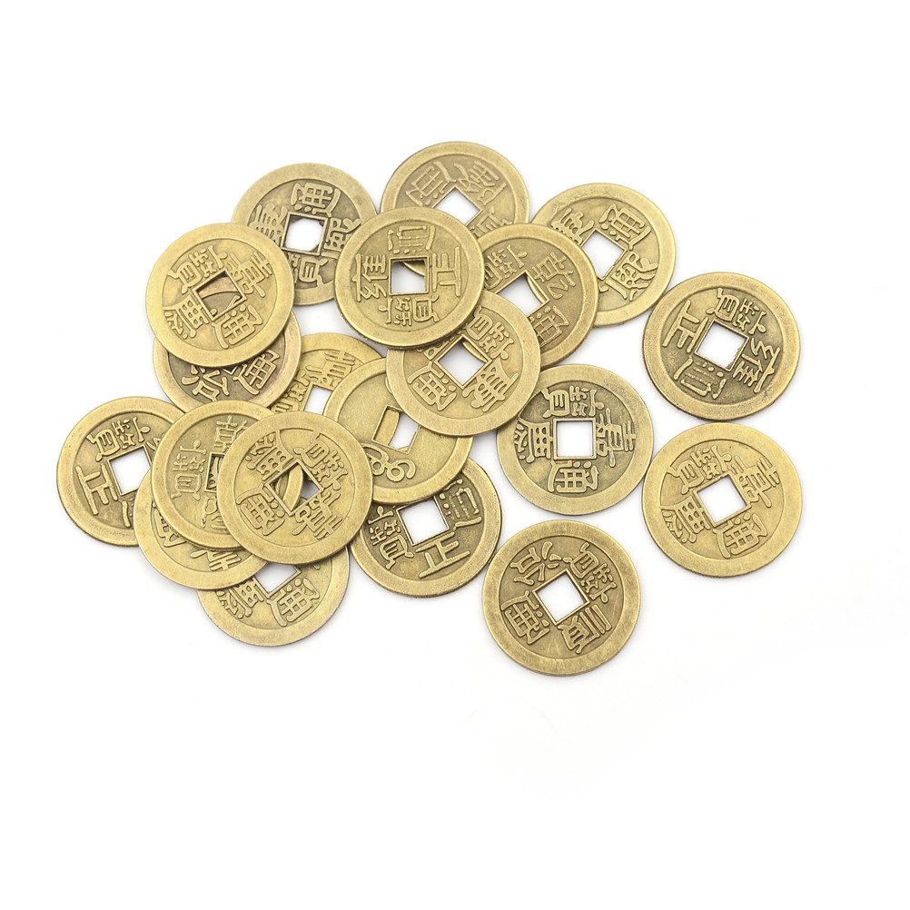 20PCS Chinese Feng Shui Fortune Coin For Wealth Success Lucky Emperor Qing Home Decor Random Send 1.00