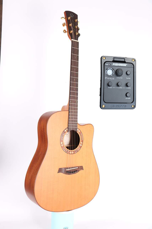 professional 41 full solid electric acoustic guitar with solid cedar top solid mahogany body. Black Bedroom Furniture Sets. Home Design Ideas