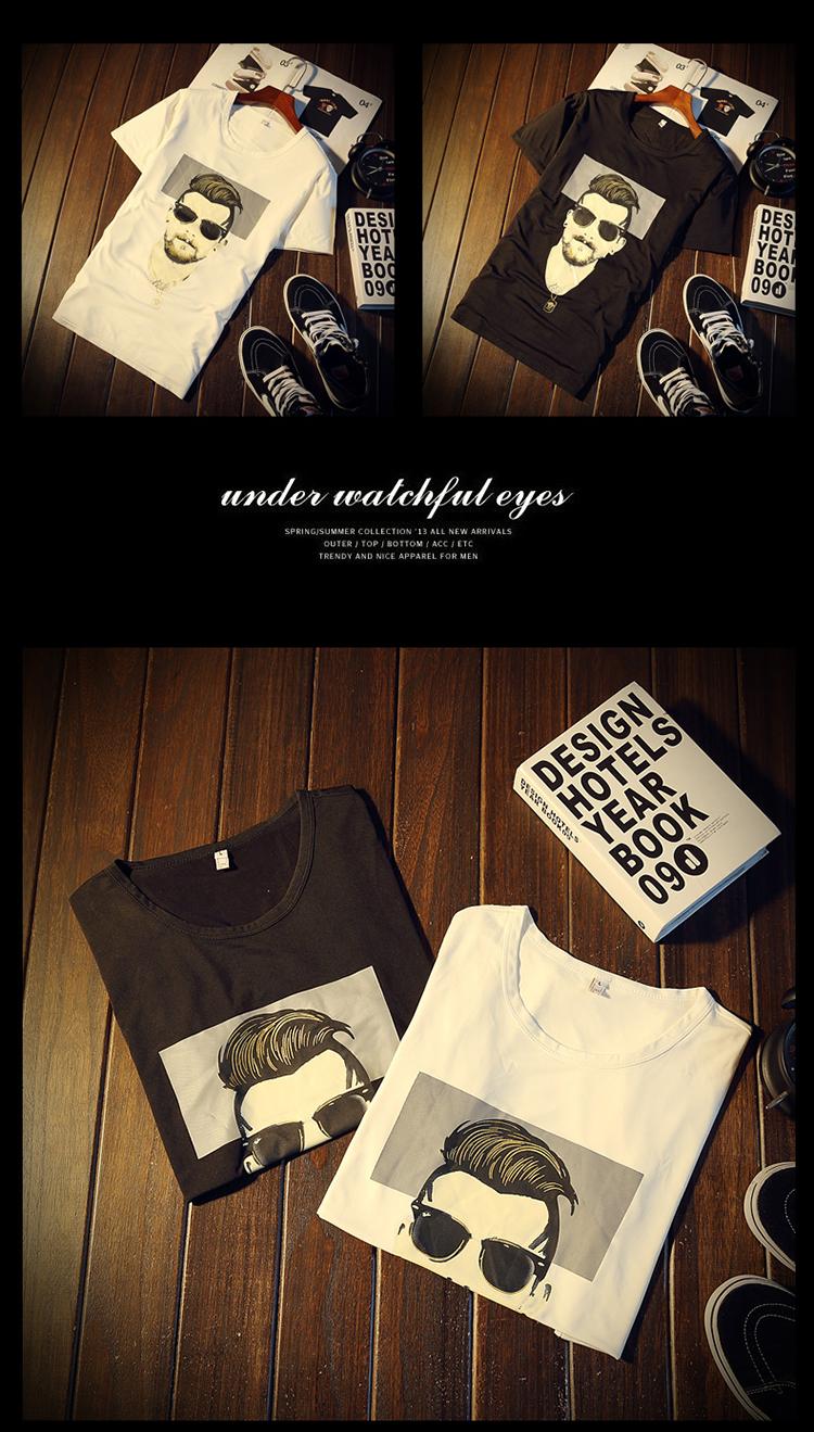 New Arrival Men t shirt Print T-shirt Men High Quality Cotton Short Sleeve T Shirts Men Loose O-Neck T-shirts Plus Size S-4XL 24
