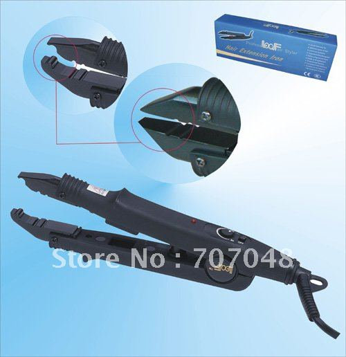 Constant temperature BLACK EXTENSIONS FUSION REMY HUMAN HAIR CONNECTOR IRON