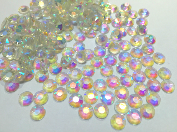 4mm Crystal Clear AB Color,SS16 crystal Resin rhinestones flatback,Free Shipping 50,000pcs/bag