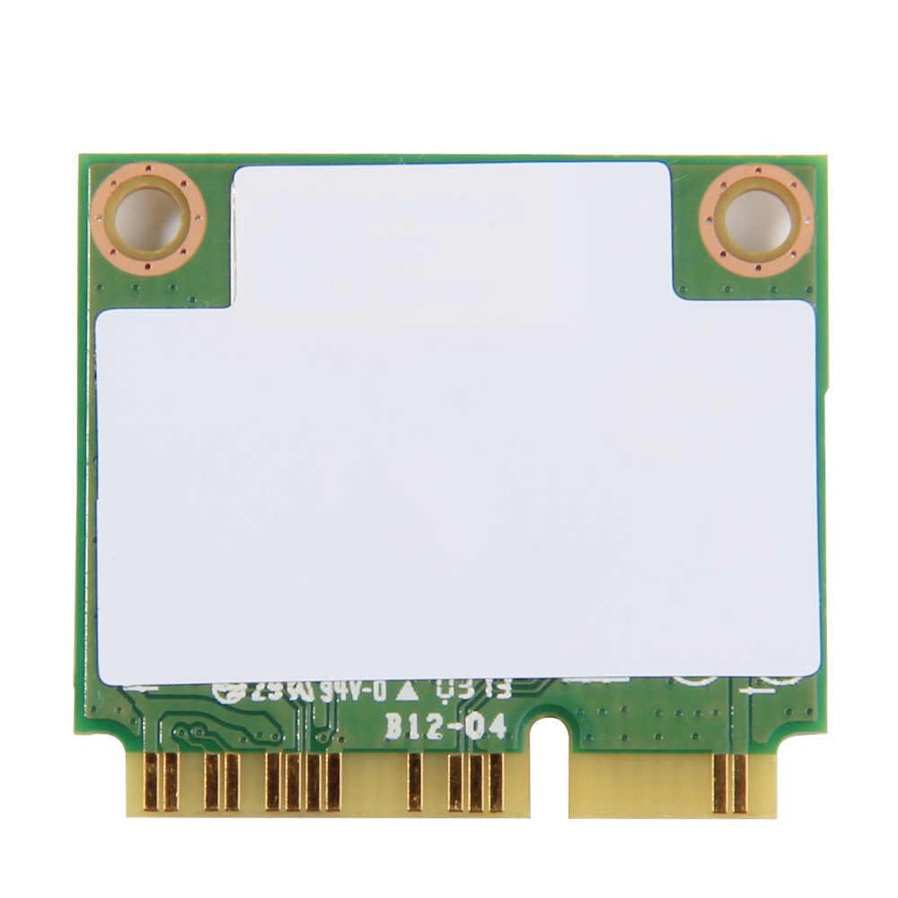 Adaptateur Wifi sans fil pour Intel 7260HMW une Mini carte PCI-E Wifi 300 Mbps double bande 802.11agn 2.4G/5 Ghz Bluetooth 4.0 pour ordinateur portable