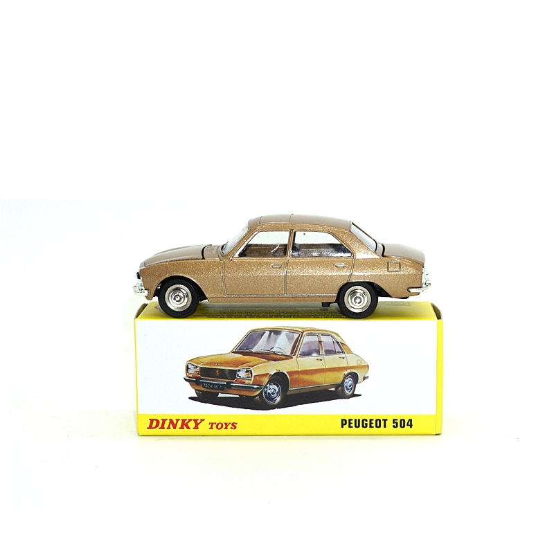 Dinky Toys Atlas 1452 <font><b>1</b></font>/<font><b>43</b></font> <font><b>PEUGEOT</b></font> 504 Hot Alloy Diecast <font><b>Car</b></font> <font><b>Model</b></font> Collection Toys for Children Adult Wheels image