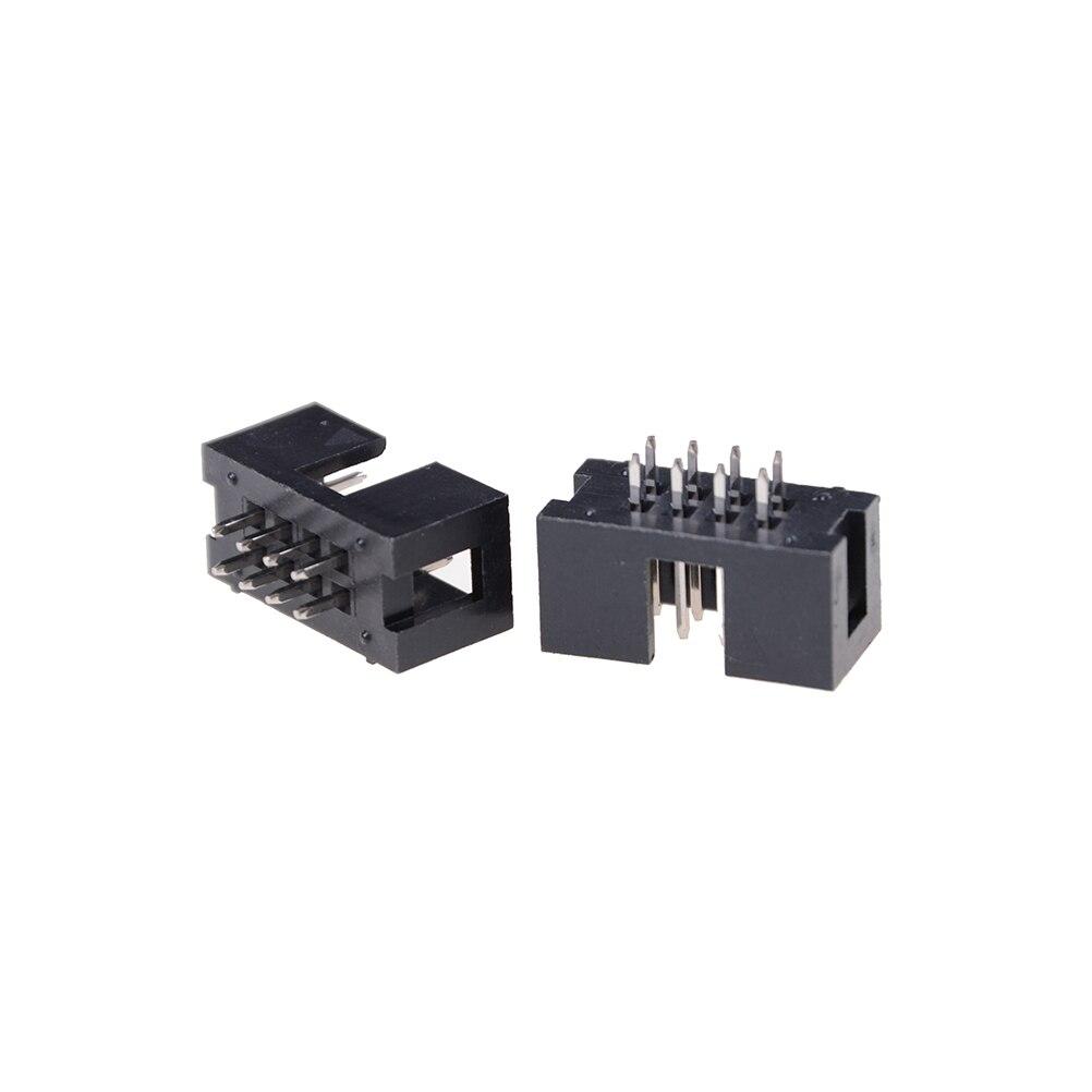 20 Pcs Molex 4 Pin Power Connector PCB L Angled Socket for Hard Drive Header