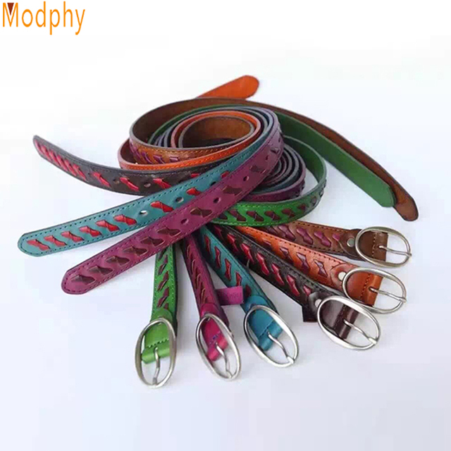 Fashion Patchwork Color Women Waistbands With Alloy Pin Buckles Leather Wasit Belts Ladies Apparel Accessories Drop ship PB275