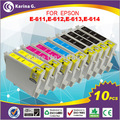 10X Replacement Ink Cartridges For EPSON T0611 T0612 T0613 T0614 For DX4800+ DX4850 DX4850+