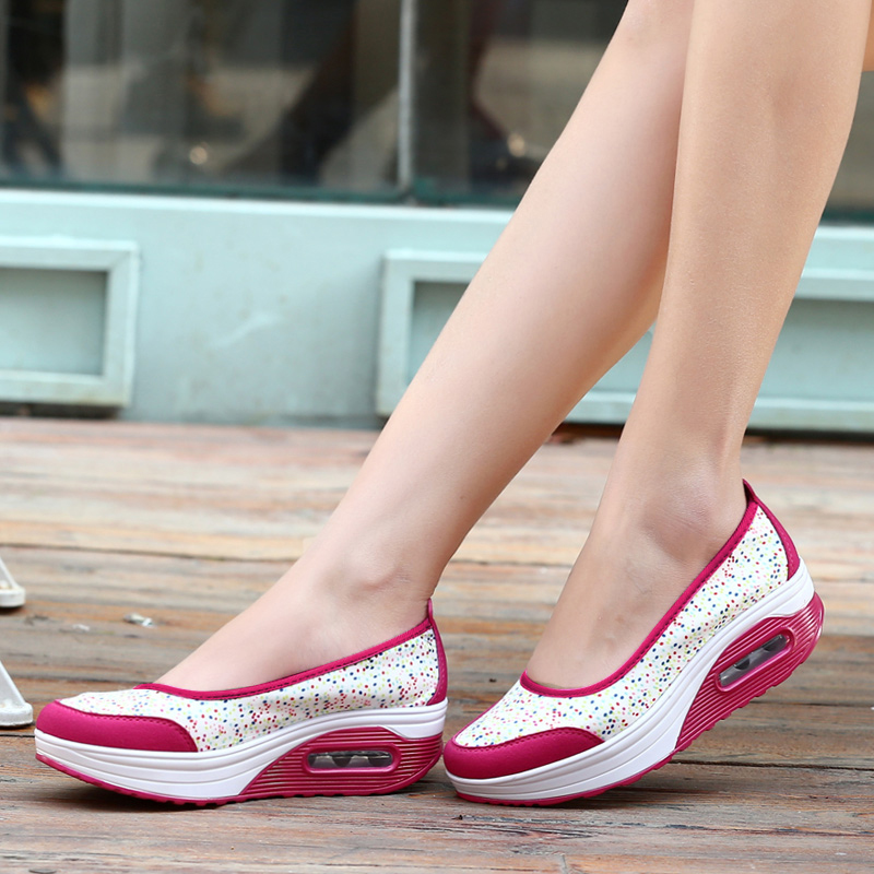 Breathable Shoes Lady Flat Casual Shoes