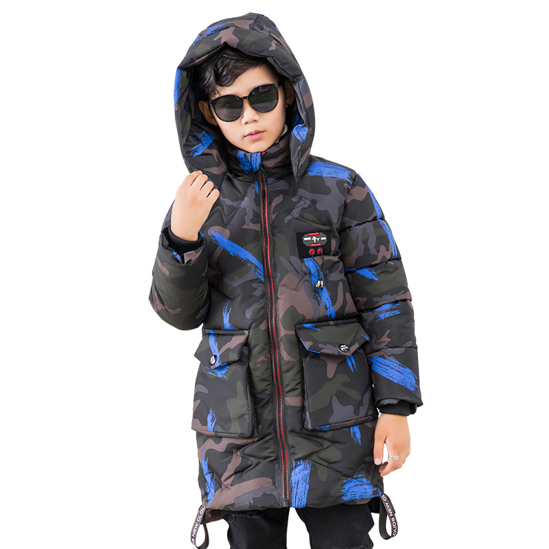 High Quality boys winter jacket children cotton coat snow outerwear kids down parkas detachable 10years baby clothing boy coats