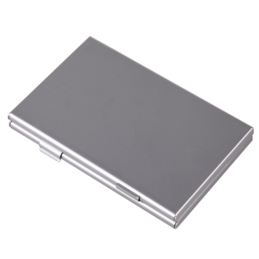 Metal Aluminum Memory Card Protecter Box Storage Case Holder For 6Pcs SD/SDHC/MMC Memory Card Case Holder FW1S