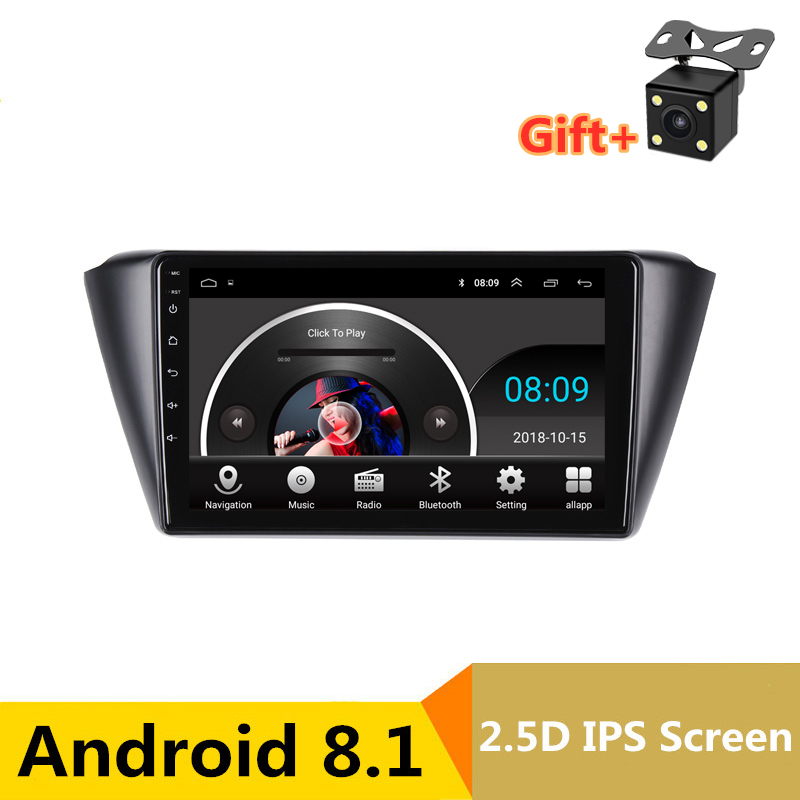 "9"" Android 8.1 Car DVD Multimedia Player GPS For Skoda Fabia 2015 2016 2017 audio car radio stereo navigator bluetooth Wifi"