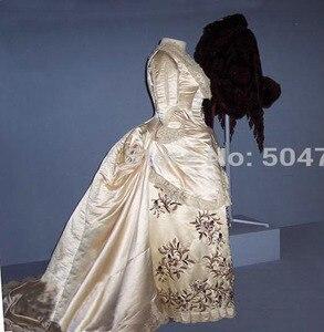 Freeshipping!R-250 19 century Vintage costume 1860S Victorian Lolita/Civil War Renaissance dress Halloween dresses All size
