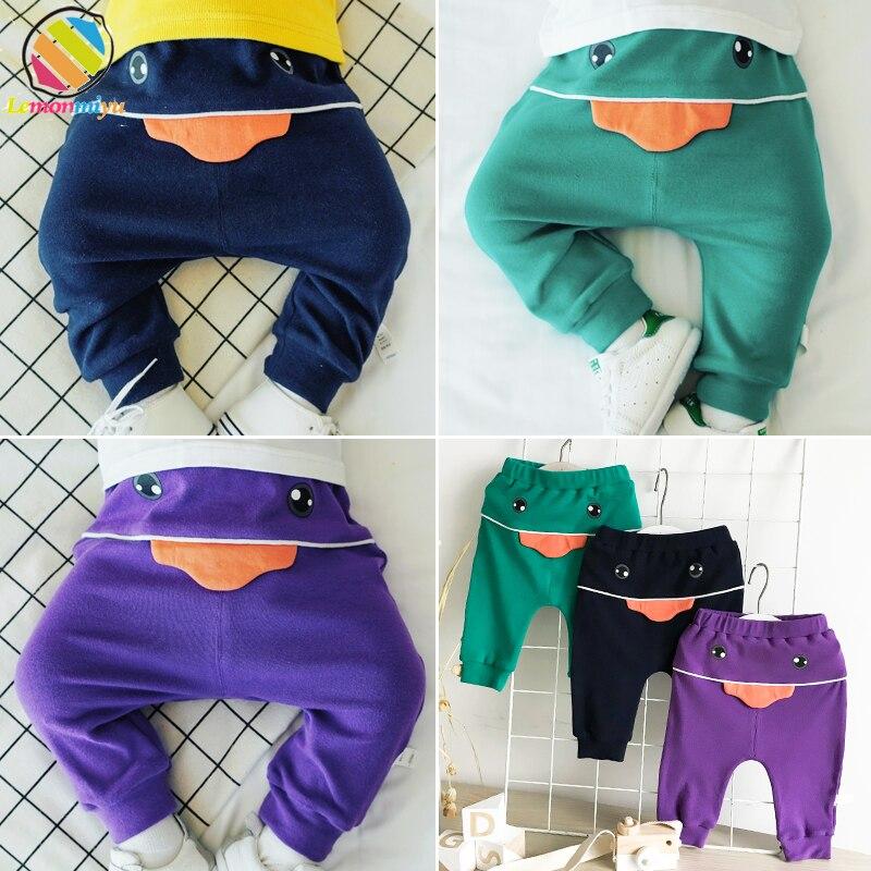 Lemonmiyu Pants Trousers Toddler Newborn Autumn Baby Cotton Casual Cute Soft Cartoon