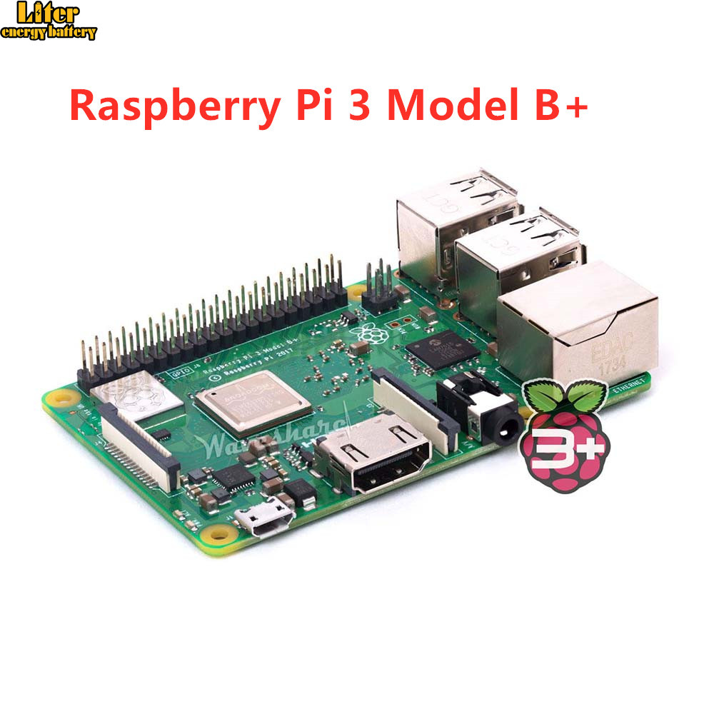 2018 new original Raspberry Pi 3 Model B+, the Third Generation Pi A 1.4GHz 64-bit quad-core ARM Cortex-A53 CPU2018 new original Raspberry Pi 3 Model B+, the Third Generation Pi A 1.4GHz 64-bit quad-core ARM Cortex-A53 CPU