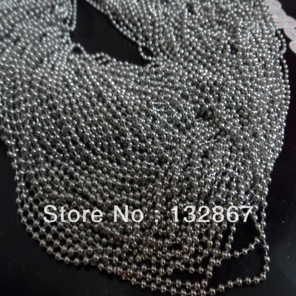 wholesale 50 meters 1 6mm Stainless steel thin ball beads chains DIY jewelry finding Lead and